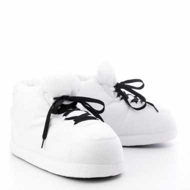 Dames sneaker sloffen/sloffen voor volwassenen wit maat 37/38