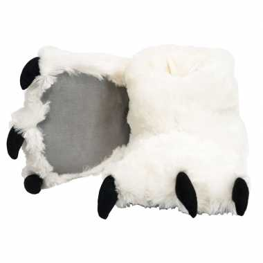 Witte ijsbeer poten sloffen voor dames